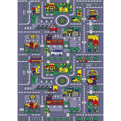 City Map Gray Area Rug