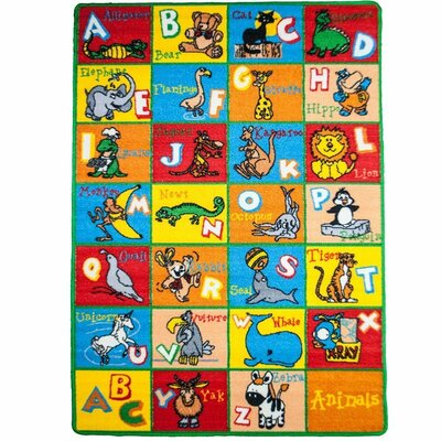 Kids Animal Blue/Red Area Rug