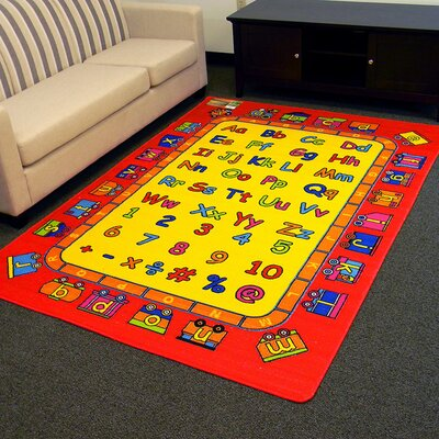 Kids ABC Fun Red/Yellow Area Rug