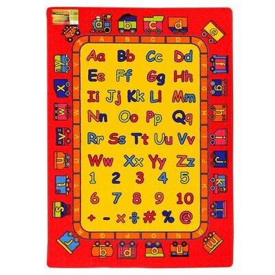 Kids ABC Fun Red/Yellow Area Rug