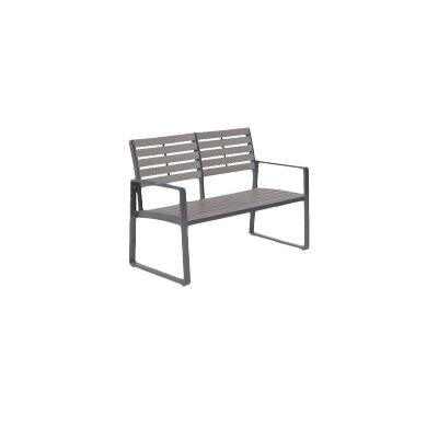Gartenbank Detroit aus Aluminium | Garten > Gartenmöbel > Gartenbänke | Grau | Aluminium | Garden Impressions