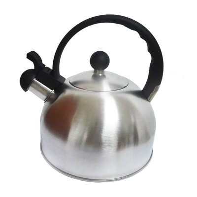 2.6 Qt. Whistling Stainless Steel Stovetop Kettle Color: Brushed Stainless Steel RC 2376