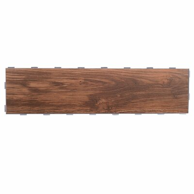 Planks ThinLine 6 x 24 Porcelain Wood Tile in Walnut