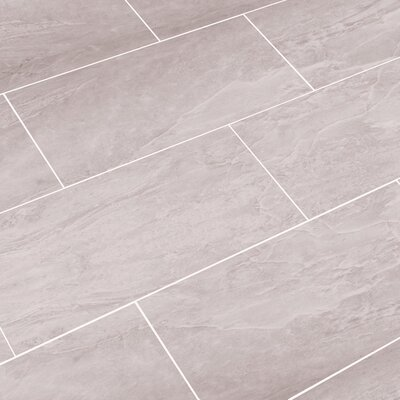Luxury ThinLine 12 x 24 Porcelain Field Tile in Oyster Gray