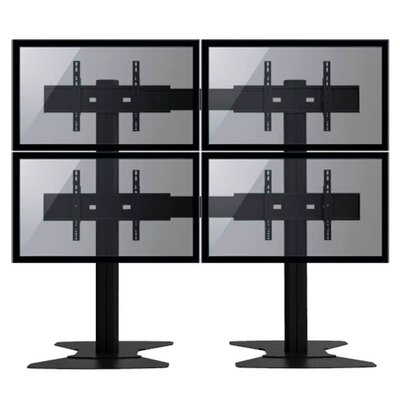 TygerClaw Mobile 4 TVs Universal Floor Mount for 30-60 Flat Panel Screens