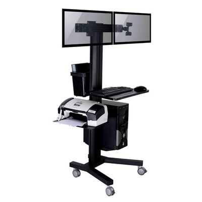 TygerClaw Mobile 2 TVs Floor Mount for Flat Panel Screens