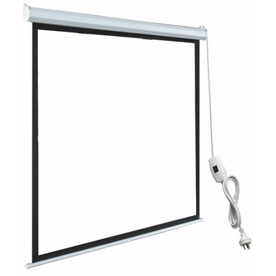 TygerClaw Black Electric Projection Screen Size: 120 H x 120 W