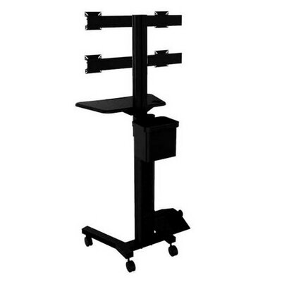 TygerClaw Mobile 4 TVs Floor Mount for Flat Panel Screens