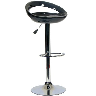Tygerclaw Adjustable Height Swivel Bar Stool Upholstery: Black