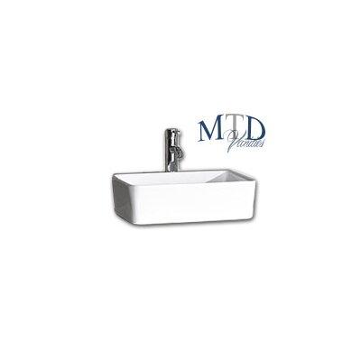 Aruba Ceramic Square Vessel Bathroom Sink with Overflow