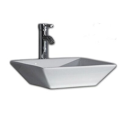 Jordan Square Vessel Bathroom Sink with Overflow