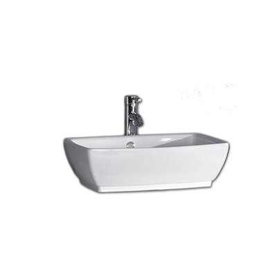 Nepal Rectangular Vessel Bathroom Sink with Overflow