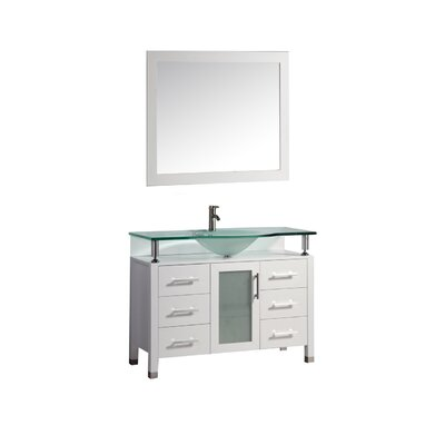 Beliza 48 Single Sink Bathroom Vanity Set with Mirror