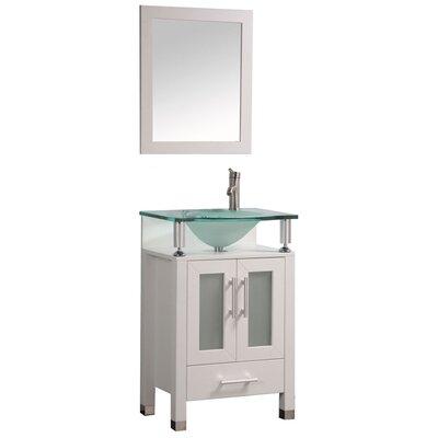 Beliza 24 Single Sink Bathroom Vanity Set with Mirror
