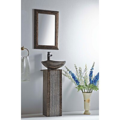 Ares Stone 16 Pedestal Bathroom Sink