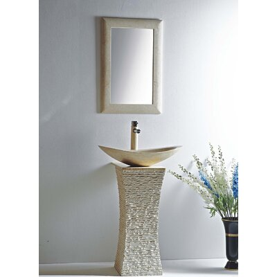 Milan 24 Pedestal Bathroom Sink