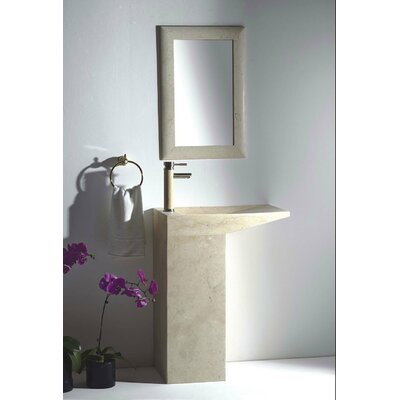 Naples 25 Pedestal Bathroom Sink