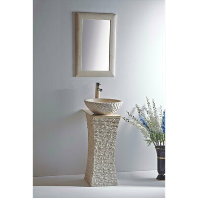 Olympia 20 Pedestal Bathroom Sink