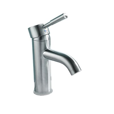Single Handle Single Hole Faucet Size: 6-Inch, Finish: Chrome