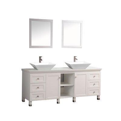 Chauncy 72 Double Sink Bathroom Vanity Set with Mirrors