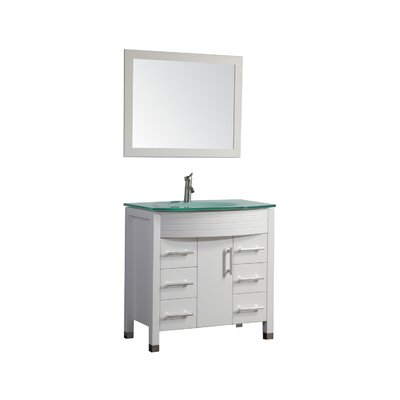 Prall Modern 48 Single Sink Bathroom Vanity Set with Mirror