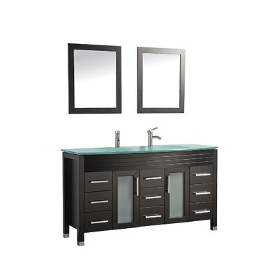 Prall 63 Double Sink Bathroom Vanity Set with Mirrors