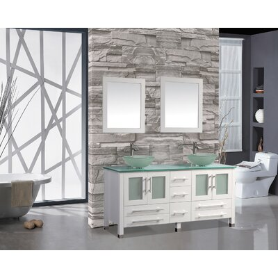 Prado 71 Double Sink Bathroom Vanity Set with Mirror