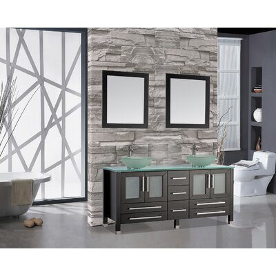Prado 71 Double Bathroom Vanity Set with Mirror