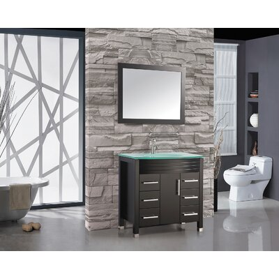 Prall 48 Single Sink Bathroom Vanity Set with Mirror