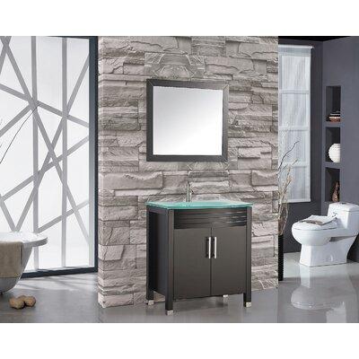 Prall 32 Single Sink Bathroom Vanity Set with Mirror