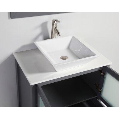 Tahiti 36 Single Modern Bathroom Vanity Set with Mirror
