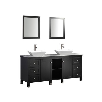 Chauncy 72 Double Sink Bathroom Vanity Set with Mirror