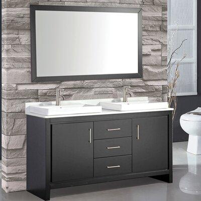 Belarus 60 Double Sink Bathroom Vanity Set with Mirror