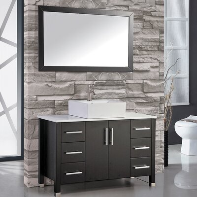 Aruba 48 Single Sink Bathroom Vanity Set with Mirror