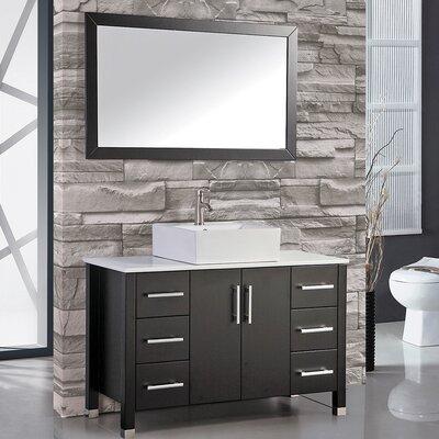 Laroche 48 Single Sink Wood Base Bathroom Vanity Set with Mirror