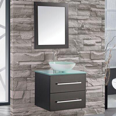 Prado 24 Single Wall Mounted Bathroom Vanity Set with Mirror