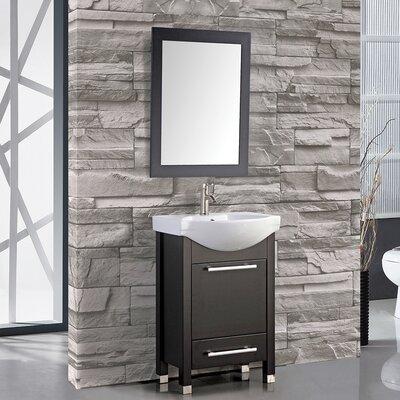 Peru 24 Single Sink Bathroom Vanity Set with Mirror