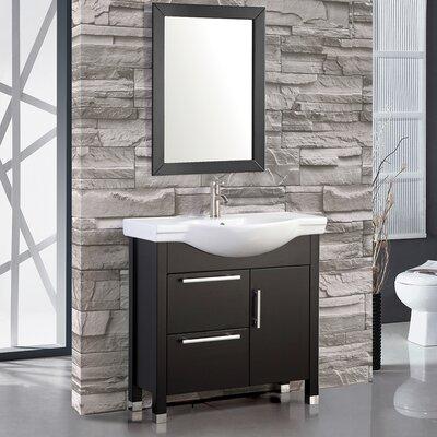 Peru 36 Single Sink Bathroom Vanity Set with Mirror