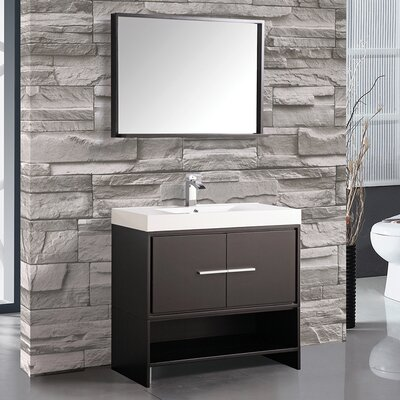Cypress 36 Single Bathroom Vanity Set with Mirror Base Finish: Espresso