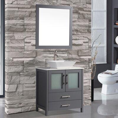 Tahiti 24 Single Modern Bathroom Vanity Set with Mirror