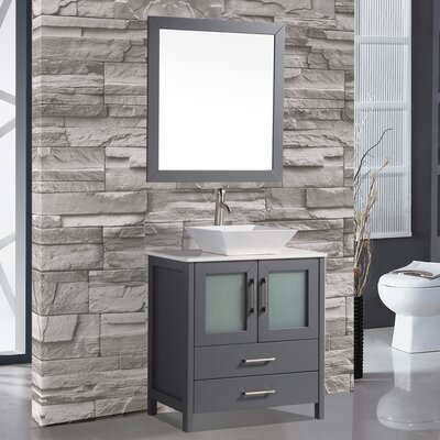 Tahiti 30 Single Modern Bathroom Vanity Set with Mirror