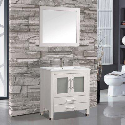 Sweden 30 Single Sink Bathroom Vanity Set with Mirror
