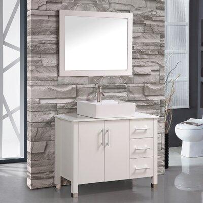 Aruba 40 Single Sink Bathroom Vanity Set with Mirror