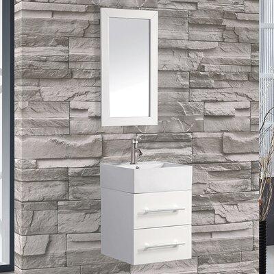 Potvin 18 Single Sink Bathroom Vanity Set with Mirror