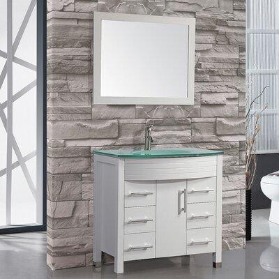 Prall 36 Single Sink Bathroom Vanity Set with Mirror