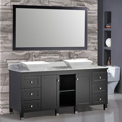 Belarus 72 Double Sink Bathroom Vanity Set with Mirror