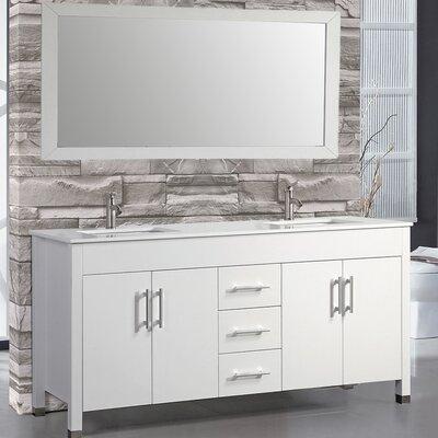 Monaco 63 Double Sink Bathroom Vanity Set with Mirror