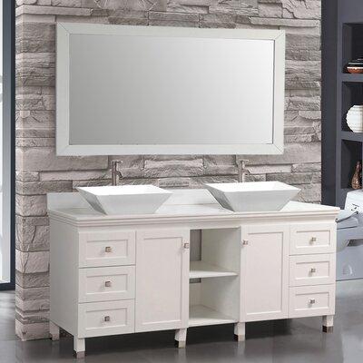 Belarus 72 Double Sink Bathroom Vanity Set with Mirrors