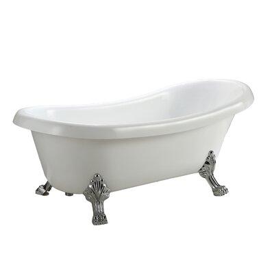 Hermosa 66.9 x 30 Freestanding Soaking Bathtub