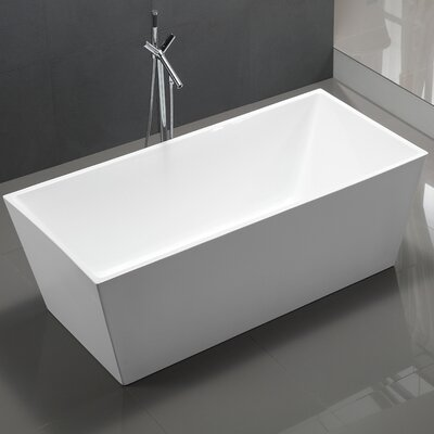 Palms 67 x 33 Freestanding Soaking Bathtub